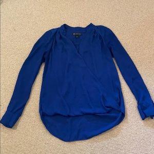 INC International Concepts long sleeve blue shirt
